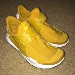Yellow Nike Sock Dart Running Shoes
